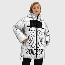 Женская зимняя 3D-куртка с капюшоном с принтом Zoidberg, цвет: 3D-черный, артикул: 10113802706071 — фото 2