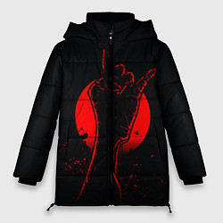 Женская зимняя 3D-куртка с капюшоном с принтом Zombie Rock, цвет: 3D-черный, артикул: 10114189106071 — фото 1