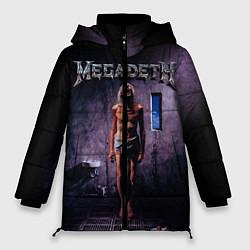Женская зимняя 3D-куртка с капюшоном с принтом Megadeth: Madness, цвет: 3D-черный, артикул: 10118377406071 — фото 1