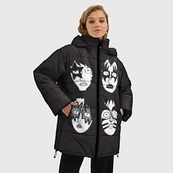 Куртка зимняя женская KISS Mask цвета 3D-черный — фото 2