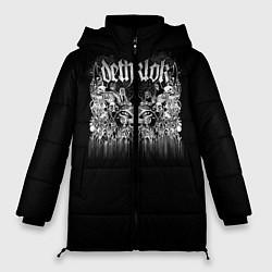 Женская зимняя 3D-куртка с капюшоном с принтом Dethklok: Demons, цвет: 3D-черный, артикул: 10134389906071 — фото 1