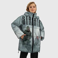 Женская зимняя 3D-куртка с капюшоном с принтом STALKER: Dusk, цвет: 3D-черный, артикул: 10135204306071 — фото 2