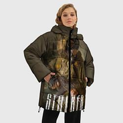 Женская зимняя 3D-куртка с капюшоном с принтом STALKER: Warrior, цвет: 3D-черный, артикул: 10135205706071 — фото 2