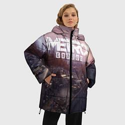 Женская зимняя 3D-куртка с капюшоном с принтом Metro Exodus, цвет: 3D-черный, артикул: 10135428906071 — фото 2