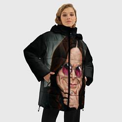Женская зимняя 3D-куртка с капюшоном с принтом Оззи Осборн, цвет: 3D-черный, артикул: 10138083706071 — фото 2