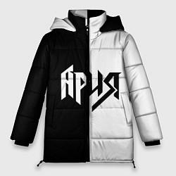 Куртка зимняя женская Ария Ч/Б цвета 3D-черный — фото 1