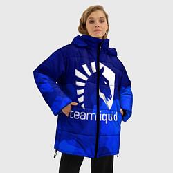Женская зимняя 3D-куртка с капюшоном с принтом Team Liquid: Polygons, цвет: 3D-черный, артикул: 10143164106071 — фото 2