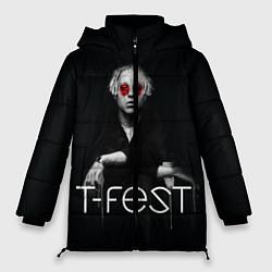 Женская зимняя 3D-куртка с капюшоном с принтом T-Fest: Black Style, цвет: 3D-черный, артикул: 10147368106071 — фото 1