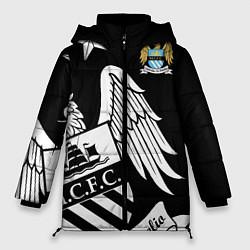 Женская зимняя 3D-куртка с капюшоном с принтом FC Manchester City: Exclusive, цвет: 3D-черный, артикул: 10152836906071 — фото 1