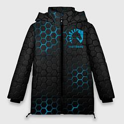 Женская зимняя 3D-куртка с капюшоном с принтом Team Liquid: Carbon Style, цвет: 3D-черный, артикул: 10154882906071 — фото 1