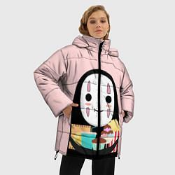 Женская зимняя 3D-куртка с капюшоном с принтом Унесенные призраками, цвет: 3D-черный, артикул: 10155852506071 — фото 2