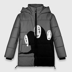 Женская зимняя 3D-куртка с капюшоном с принтом Унесенные призраками, цвет: 3D-черный, артикул: 10155872306071 — фото 1