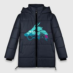 Женская зимняя 3D-куртка с капюшоном с принтом Унесённые призраками, цвет: 3D-черный, артикул: 10155937706071 — фото 1