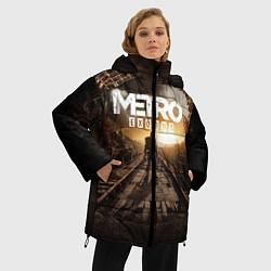 Женская зимняя 3D-куртка с капюшоном с принтом Metro Exodus: Sunset, цвет: 3D-черный, артикул: 10161309306071 — фото 2