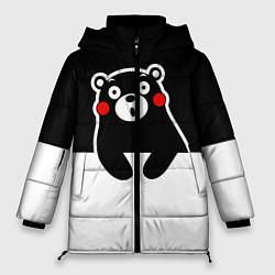 Женская зимняя 3D-куртка с капюшоном с принтом Kumamon Surprised, цвет: 3D-черный, артикул: 10162547706071 — фото 1