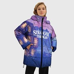 Женская зимняя 3D-куртка с капюшоном с принтом Stranger Things: Magic House, цвет: 3D-черный, артикул: 10167403906071 — фото 2