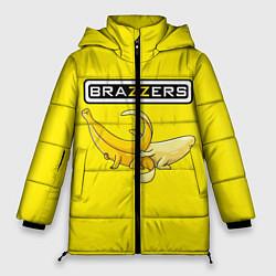 Женская зимняя 3D-куртка с капюшоном с принтом Brazzers: Yellow Banana, цвет: 3D-черный, артикул: 10167454506071 — фото 1