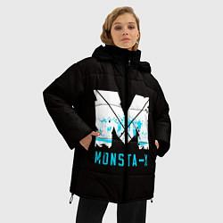 Женская зимняя 3D-куртка с капюшоном с принтом MONSTA X, цвет: 3D-черный, артикул: 10170154506071 — фото 2