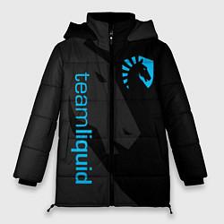 Женская зимняя 3D-куртка с капюшоном с принтом TEAM LIQUID, цвет: 3D-черный, артикул: 10172456706071 — фото 1