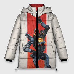 Женская зимняя 3D-куртка с капюшоном с принтом Apex Legends: Pathfinder, цвет: 3D-черный, артикул: 10172752306071 — фото 1