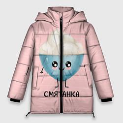 Женская зимняя 3D-куртка с капюшоном с принтом Смятанка, цвет: 3D-черный, артикул: 10172931706071 — фото 1