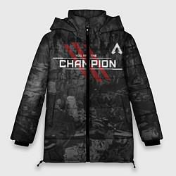 Женская зимняя 3D-куртка с капюшоном с принтом You Are The Champion, цвет: 3D-черный, артикул: 10173219506071 — фото 1