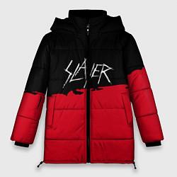 Женская зимняя 3D-куртка с капюшоном с принтом Slayer: Black & Red, цвет: 3D-черный, артикул: 10173792706071 — фото 1