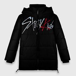 Женская зимняя 3D-куртка с капюшоном с принтом Stray Kids, цвет: 3D-черный, артикул: 10185247706071 — фото 1