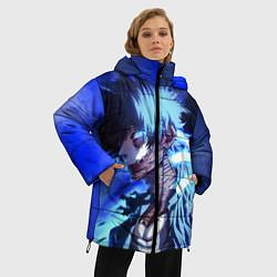 Женская зимняя 3D-куртка с капюшоном с принтом Моя Геройская Академия, цвет: 3D-черный, артикул: 10200479506071 — фото 2