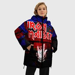 Женская зимняя 3D-куртка с капюшоном с принтом Iron Maiden, цвет: 3D-черный, артикул: 10201644706071 — фото 2
