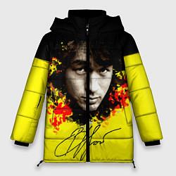 Куртка зимняя женская Виктор Цой цвета 3D-черный — фото 1