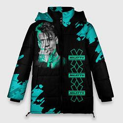 Женская зимняя 3D-куртка с капюшоном с принтом NILETTO, цвет: 3D-черный, артикул: 10211073506071 — фото 1
