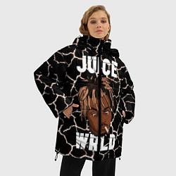 Женская зимняя 3D-куртка с капюшоном с принтом Juice WRLD, цвет: 3D-черный, артикул: 10212973906071 — фото 2