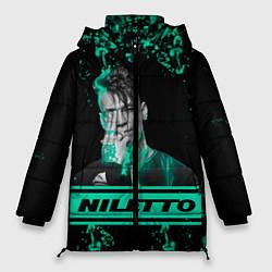 Женская зимняя 3D-куртка с капюшоном с принтом NILETTO, цвет: 3D-черный, артикул: 10213499506071 — фото 1