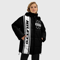 Женская зимняя 3D-куртка с капюшоном с принтом NILETTO, цвет: 3D-черный, артикул: 10213509906071 — фото 2