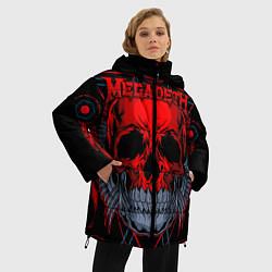 Женская зимняя 3D-куртка с капюшоном с принтом Megadeth, цвет: 3D-черный, артикул: 10218182506071 — фото 2