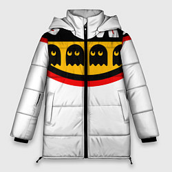 Женская зимняя 3D-куртка с капюшоном с принтом PAC-MAN, цвет: 3D-черный, артикул: 10245857906071 — фото 1