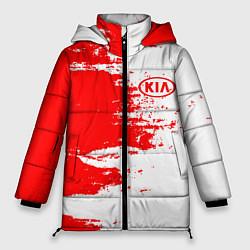 Женская зимняя 3D-куртка с капюшоном с принтом KIA, цвет: 3D-черный, артикул: 10253891306071 — фото 1