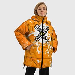 Женская зимняя 3D-куртка с капюшоном с принтом Brazzers, цвет: 3D-черный, артикул: 10278877106071 — фото 2