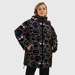 Куртка зимняя женская SLAVA MARLOW - Неоновые смайлы - фото 2