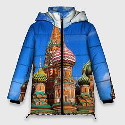 Куртка зимняя женская Храм Василия Блаженного цвета 3D-черный — фото 1
