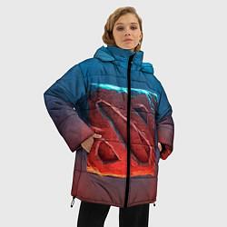 Куртка зимняя женская Dota 2: Symbol цвета 3D-черный — фото 2