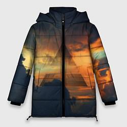 Женская зимняя 3D-куртка с капюшоном с принтом 30 seconds to mars, цвет: 3D-черный, артикул: 10063910606071 — фото 1