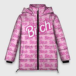 Куртка зимняя женская Bitch Barbie цвета 3D-черный — фото 1
