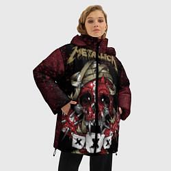 Куртка зимняя женская Metallica: XXX цвета 3D-черный — фото 2