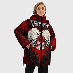 Женская зимняя 3D-куртка с капюшоном с принтом BFMV: Duo Skulls, цвет: 3D-черный, артикул: 10064310206071 — фото 2