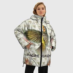Куртка зимняя женская Imagine Dragons: Fly цвета 3D-черный — фото 2
