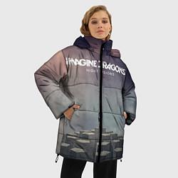 Женская зимняя 3D-куртка с капюшоном с принтом Imagine Dragons: Night Visions, цвет: 3D-черный, артикул: 10064384306071 — фото 2