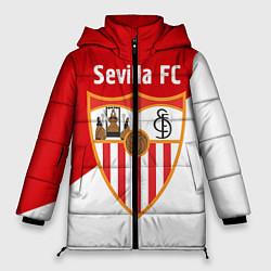 Женская зимняя 3D-куртка с капюшоном с принтом Sevilla FC, цвет: 3D-черный, артикул: 10065164906071 — фото 1
