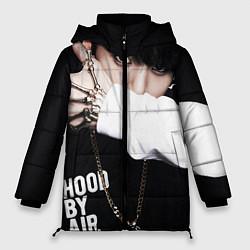Женская зимняя 3D-куртка с капюшоном с принтом BTS: Hood by air, цвет: 3D-черный, артикул: 10071615206071 — фото 1